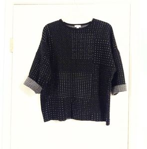 J. Jill Blanket Oversized Short Sleeve Sweater